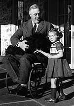 President Franklin Roosevelt, contracted polio in 1921, when he was 39. He used a wheelchair, and metal braces helped him stand.