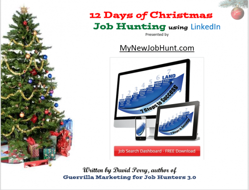 On the 8th Day of Xmas – www.MyNewJobHunt.com revealed to me: